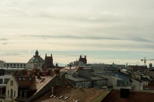 Ausblick über die Dächer von München